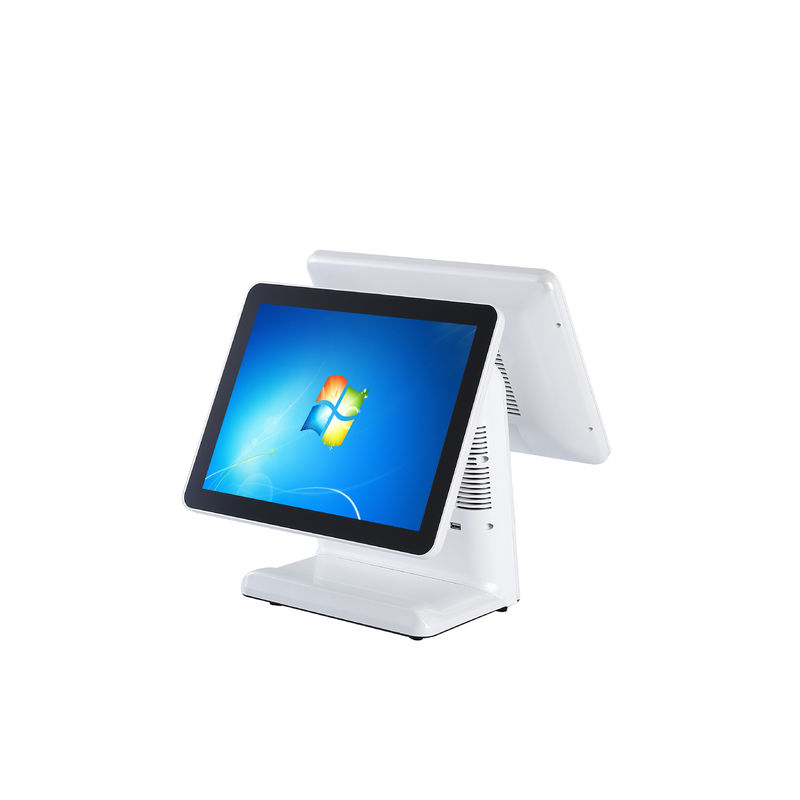 "15"" And 15"" Double Touch Screen Retail Point Of Sale With Low Power Consumption"